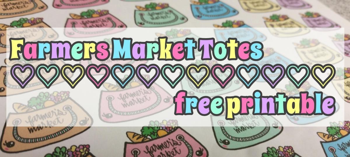 Freebie V4: Farmers Market Totes || Stickers