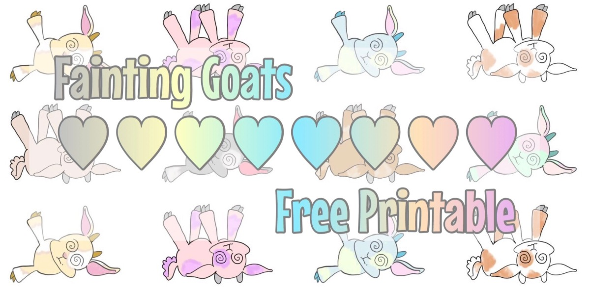 Freebie V11: Fainting Goats || stickers