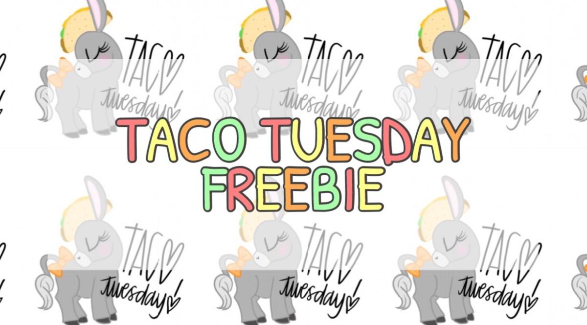 Freebie V12. Taco'Bout Donkeys Stickers